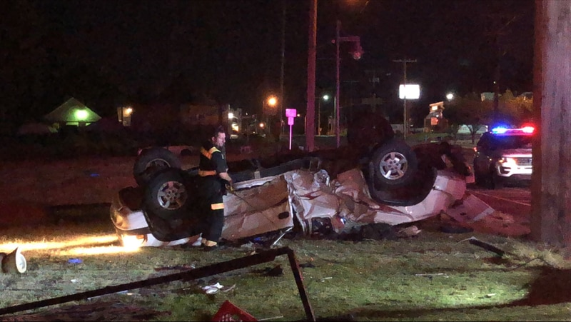 Tulsa police say the accident happened at 11th and Harvard just before 2 a.m.