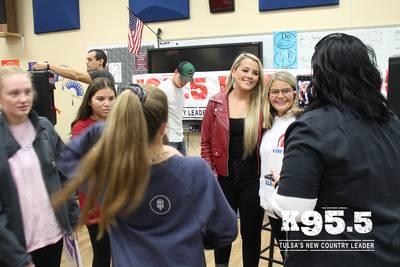 K95.5 welcomes Gabby Barrett at Bixby High School
